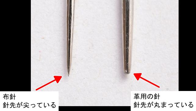 レザークラフト用の針と布針の違い