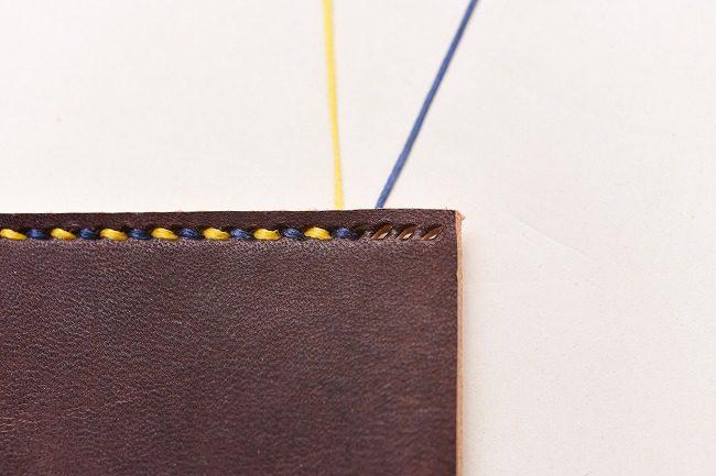 見た目を重視した糸の始末