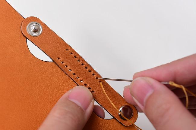 ベルトを縫って完全に固定します