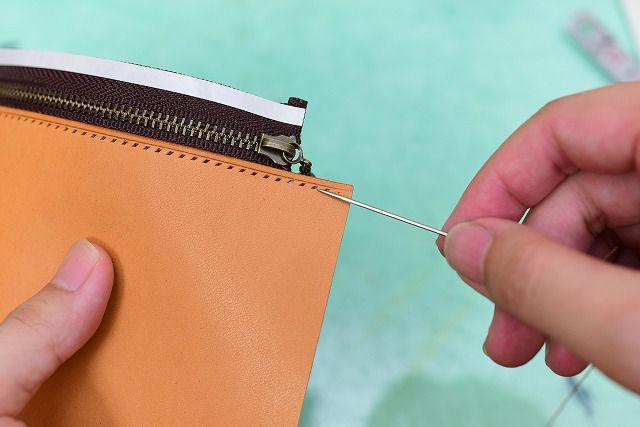 ファスナーの縫い合わせ